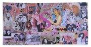 Stevie Nicks Art Collage Beach Sheet