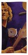 Stewart Copeland - The Police Beach Towel by John  Nolan
