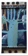 Sticker Tree - Framed Beach Towel