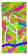 Stickman  Surfing  The  Colors Beach Towel