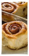 Sticky Cinnamon Buns Beach Towel
