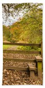 Stile In Plessey Woods Beach Towel