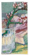 Still Life    A Flowering Almond Branch Beach Towel by Vincent Van Gogh