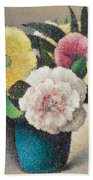 Still Life With Flowers Beach Towel