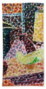 Still Life With Green Jug Painting Beach Towel