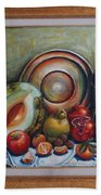 Still Life With Water Melon Beach Towel