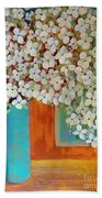 Still Life With White Flowers Beach Towel