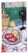 Wine And Capsicum Beach Towel
