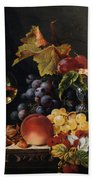 Still Life With Wine Glass And Silver Tazz Beach Towel by Edward Ladell