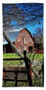 Still Useful Rustic Red Barn Art Oconee County Beach Towel
