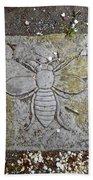 Stone Bee In Jim Thorpe Pa Beach Towel