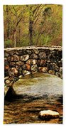 Stone Bridge In The Ozarks Beach Towel by Benjamin Yeager