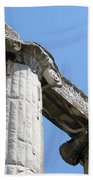 Stone Carved Columns At The Temple Of Aphrodite  Beach Towel