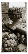 Stone Embellishments Of Jesuits Church Beach Towel