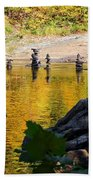 Stone Gods Of The River Beach Towel
