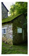 Stone House With Mossy Roof Beach Towel