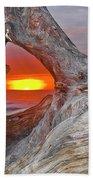 Stone Lagoon Sunset Beach Towel