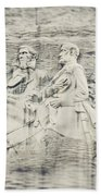 Stone Mountain Georgia Confederate Carving Beach Towel