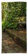 Stone Path Through A Forest Beach Towel by Jess Kraft