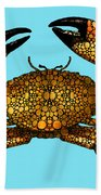 Stone Rock'd Stone Crab By Sharon Cummings Beach Towel