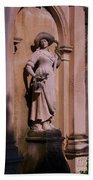 Stone Statue Woman  Beach Towel
