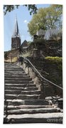 Stone Steps And Saint Peters Church At Harpers Ferry Beach Sheet