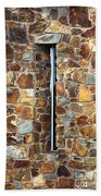 Stone Wall-small Window Beach Towel