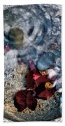 Stones And Fall Leaves Under Water-41 Beach Towel