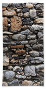 Stones Wall Beach Towel