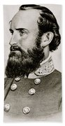 Stonewall Jackson Confederate General Portrait Beach Towel