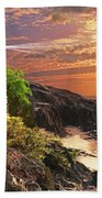 Stoney Cove Lighthouse Beach Towel