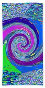 Stool Pie Chart Twirl Tornado Colorful Blue Sparkle Artistic Digital Navinjoshi Artist Created Image Beach Towel