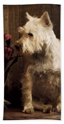 Stop And Smell The Flowers Beach Towel by Edward Fielding