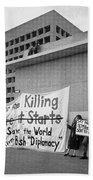 Stop The Killing Say No To Israel Anti-war Protestors Tucson Arizona 1991 Beach Towel