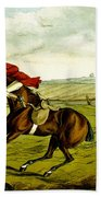 Stopping At Water From Qualified Horses And Unqualified Riders Beach Towel