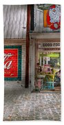 Store Front - Life Is Good Beach Towel by Mike Savad