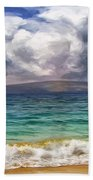 Storm Across The Channel Beach Towel