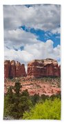 Storm Clouds Over Cathedral Rocks Beach Towel