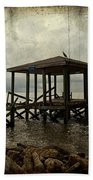 Storm In The Distance Beach Towel