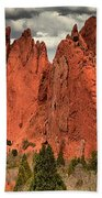 Storm Over Red Rocks Beach Towel
