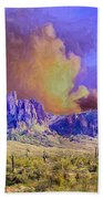 Storm Over The Superstitions Beach Towel