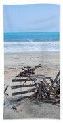 Storm Ravaged Fence  Beach Towel