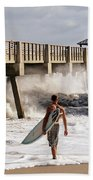 Storm Surfer Beach Towel