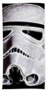 Storm Trooper Helmet Beach Towel