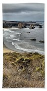 Storms Over An Unspoiled Beach Beach Towel by Adam Jewell