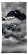 Storms Over Glaciers And Rugged Peaks Beach Towel