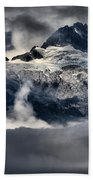 Storms Over Jagged Peaks Beach Towel