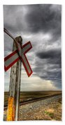 Stormy Crossing Beach Towel