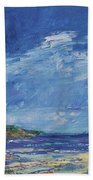 Stormy Day At Picnic Island Beach Towel
