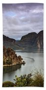 Stormy Day At The Lake  Beach Towel